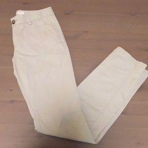 H&M Skinny Cotton Khaki Pants